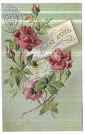 Gauffrée Fleurs Bonne Année - Anno Nuovo
