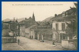 ALLEVARD Les BAINS - Avenue De La Gare Et Le Terminus Hôtel - Animée - Collection L. GRIMAL - Allevard