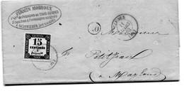 Lettre Avec Texte De Scionzier (Hte Savoie) Pour Magland Via Cluses Yv N°3 Type 1 Grandes Marges 11 Mars 1863 Sup - Postage Due Covers