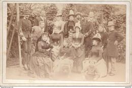 Cabinet : Portrait D'un Militaire Sous-lieutenant En Famille (Anonyme - Ca 1890/1900) (BP) - War, Military