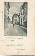 Cartolina - Postcard /  Viaggiata - Sent /  Feltre - Via Mezzaterra. - Other Cities