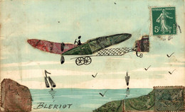 BLERIOT Very Nice Handmade Illustration Postcard With Stamps - Otros