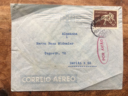 PORTUGAL 1952 Air Mail Cover Lisbon To Berlin - Lettere
