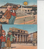 13 MARSEILLE  -  Galejades Marseillaises  -  LOT DE 4 CARTES  - - Unclassified