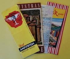 Dépliant  GREECE - ASTIR BEACH GLYPHADA - HOTEL AMFITRYON NAFPLION - MYSTRAS - CYCLADES - Dépliants Turistici