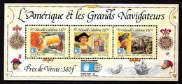 Nelle-CALEDONIE - BF N° 14 - Grands Navigateurs - Neuf N** - Très Beau - Blocchi & Foglietti