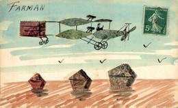 FARMAN  Very Nice Handmade Illustration Postcard With Stamps - Otros