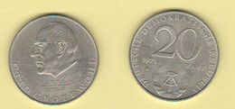 DDR  Germania 20 Mark 1973 Germany East Grotewohl - Chad