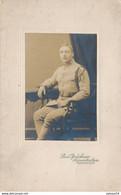 Cabinet : Portrait D'un Militaire Souvenir D'occupation - Kaiserslautern - N°112 Sur Le Col (29/01/1922) (BP) - War, Military