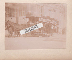 14 - CABOURG - Rare Photo Originale 1890/1900 Tramway à Traction Hippomobile Devant L'Ancien Grand Hôtel - Compagnie... - Luoghi
