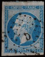 NAPOLEON III  .n°14 A Ob   D   AMBULANT - 1853-1860 Napoléon III.