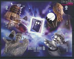 Großbritannien Block81 (kompl.Ausg.) Postfrisch 2013 TV Serie Doctor Who (9608592 - Neufs