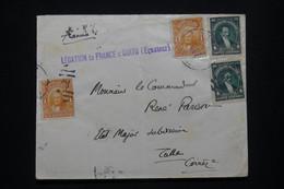EQUATEUR - Enveloppe De La Légation De France à Quito Pour La France En 1922  - L 98465 - Equateur