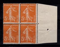YV 158 N** Semeuse En Bloc De 4 - Unused Stamps