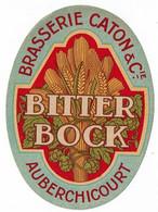 Ancienne étiquette Brasserie Caton à Auberchicourt 59 - Bier