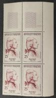 N° 1137 Neuf ** Gomme D'Origine En Bloc De 4  TB - Unused Stamps