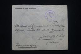HONGRIE - Env. De La Commission Militaire Interallié De Sopron Pour La France En 1921 Avec Cachet De Censure - L 98476 - Covers & Documents