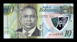 Botswana 10 Pula Mokgweetsi Masisi 2020 (2021) Pick New Polymer SC UNC - Botswana