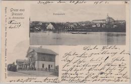 Bayern - Dießen Ammersee Bahnhof Ortsansicht Sw-Mehrbild-AK Gelaufen 1903 - Sin Clasificación