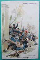 Armée Française  - Chasseurs à Pied  -  Attaque à La Baïonnette D'une Villa Barricadé  -  Ad Weick - Editeur à Saint Dié - Manöver