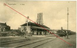 Feldpost Poperinghe La Gare Tram  Lokomotive Belgien Flandern 51.reserve Division Nach Lemgo - 1914-18