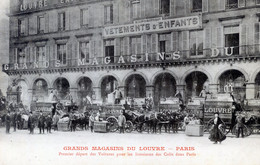 75  PARIS 1er AR   GRANDS MAGASINS DU LOUVRE DEPART DES VOITURES DE LIVRAISONS - Distrito: 01