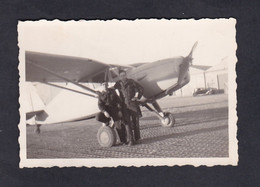 Photo Originale Vintage Snapshot Aviation Aeroport Alger Maison Blanche Militaire Vols Avion Fairchild 1948 ( 46641) - Aviation