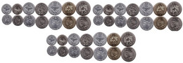 New Caledonia - 3 Pcs X Set 7 Coins 1 2 5 10 50 100 Francs 2013 UNC Lemberg-Zp - Nuova Caledonia
