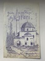 Scutari Shkodra 274 Feldpost Etappenpostamt 1918 Hand Sketch Gruss Aus Skutari - Albanien