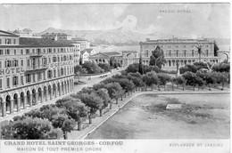 CORFOU. Grand Hôtel SAINT GEORGES. Palais Royal, Esplanade Et Jardins - Griechenland