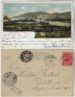 Brazil São Paulo 1902 Postcard Greetings From Santos Guarujá Editor J. Bidschowsky Sent To Delitzsch Germany Stamp - Altri