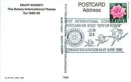 1990  Rotary International -81st Convention  Commemorative Cancel On Enjoy Rotary ! Postcard - Schmuck-FDC