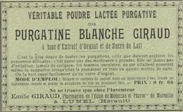 AUTRE COLLECTION 42 :  Lot De 4 étiquettes Pharmaceutique E Giraud Pharmacie Du Chemin De Fer A Lunel - Medizinische Und Zahnmedizinische Geräte