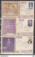 FRANCE- FDC Série 989/994 Saint Louis-Bossuet...10 JUILLET 1954 - 1950-1959