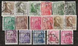 Espagne 1948-1954 N° Y&T :  764 à 774 Obl. - 1931-50 Oblitérés