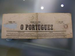 D.LUIS I - O PORTUGUEZ - JORNAL (SABBADO 12 DE JULHO ANNO 1862) PORTE DE 5RÉIS (RRR) - Covers & Documents