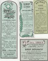 AUTRE COLLECTION 43 :  Lot De 4 étiquettes Sirop  Pharmaceutique E Giraud Pharmacie Du Chemin De Fer A Lunel - Medizinische Und Zahnmedizinische Geräte