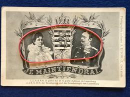 Luxembourg - Le Grand-Duc Guillaume IV Et La Grande-Duchesse Marie-Anne De Luxembourg - Je Maintiendrai - Famille Grand-Ducale