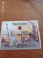 ETIQUETTE DE VIN D ALSACE// TOKAY PINOT  GRIS 1990 - Sonstige