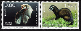 Luxembourg - 2021 - Europa CEPT - Endangered Wildlife - Mouse-eared Bat And Polecat - Mint Stamp Set - Nuovi