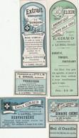 AUTRE COLLECTION 50 :  Lot De 6 étiquettes Pharmaceutique E Giraud Pharmacie Du Chemin De Fer A Lunel - Medizinische Und Zahnmedizinische Geräte