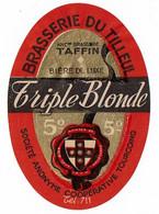 Ancienne étiquette Brasserie Du Tilleul à Tourcoing 59 - Bière