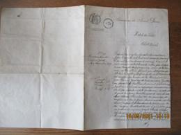 REUNION COMMUNE DE SAINT PIERRE LE 10 FEVRIER 1930 LE MAIRE ACTE DE NAISSANCE DU 7 NOVEMBRE 1879 A LA GENDARMERIE CACHET - Manoscritti