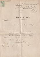Deutsches Reich - 1887 - Kaufbrief Mit Stempelmarke 3 Mark Ex Amtsgericht Giessen, 4 Seiten (029) - Covers