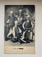 Scutari Shkodra 298 Skutari 1916 Kujtim Nga Shkodra Men Soldiers Traditional Costume K.U.K Etappenstationskommando - Albanie