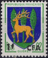 REUNION CFA Poste 342 ** MNH Armoirie écu Blason Guéret Cerf Deer Hirsch - Nuevos