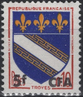 REUNION CFA Poste 346A ** MNH Armoirie Wappen Coat Of Arms Blason écu TROYES Champagne - Nuevos