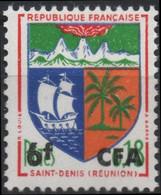 REUNION CFA Poste 346B * MH Armoirie Wappen Coat Of Arms Blason écu SAINT-DENIS Cirques Palmier Nef - Nuevos