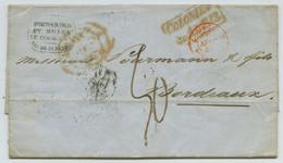LàC 1848 écrite à Rio Grande Do Sul, Transférée Par Miller Le Cocq, Rio De Janeiro.  Liverpool Ship. Colonies. Bordeaux. - 1801-1848: Voorlopers XIX