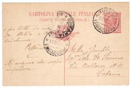 WQ443   REGNO 1918 CARTOLINA CON ANNULLO AUGUSTA (Siracusa) - Stamped Stationery